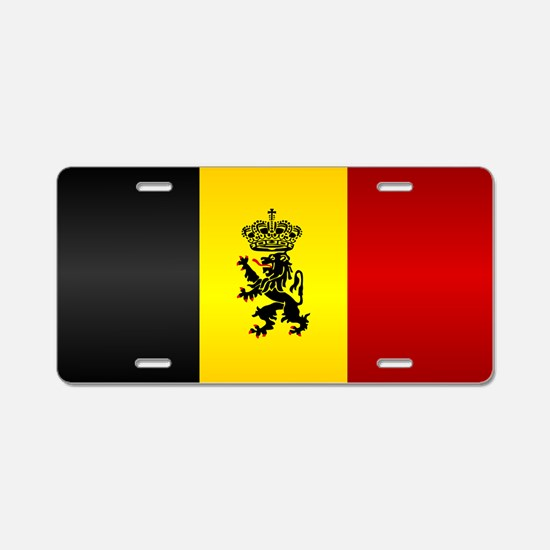 Belgian Flag Aluminum License Plate