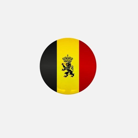 Belgian Flag Mini Button