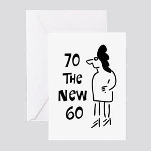 70th birthday sexy woman Greeting Cards (Package o