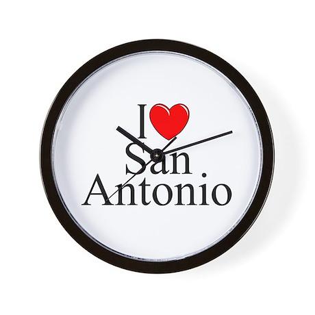 """I Love San Antonio"" Wall Clock"