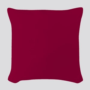 Solid red wine Woven Throw Pillow