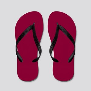 Solid red wine Flip Flops