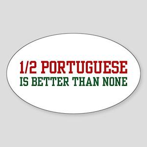 Half Portuguese Oval Sticker
