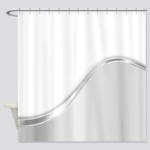 Light Wave Abstract B W Shower Curtain
