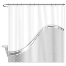 Light Wave Abstract (b/w) Shower Curtain