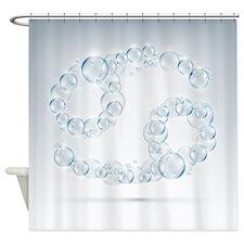 Cancer Soap Bubbles Shower Curtain