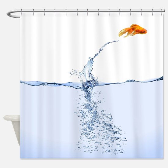 Jumping Gold Fish Shower Curtain