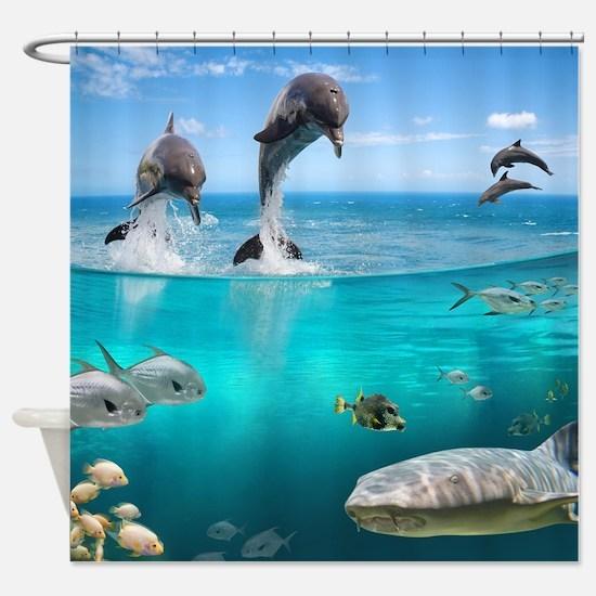 Marine Wildlife Shower Curtain
