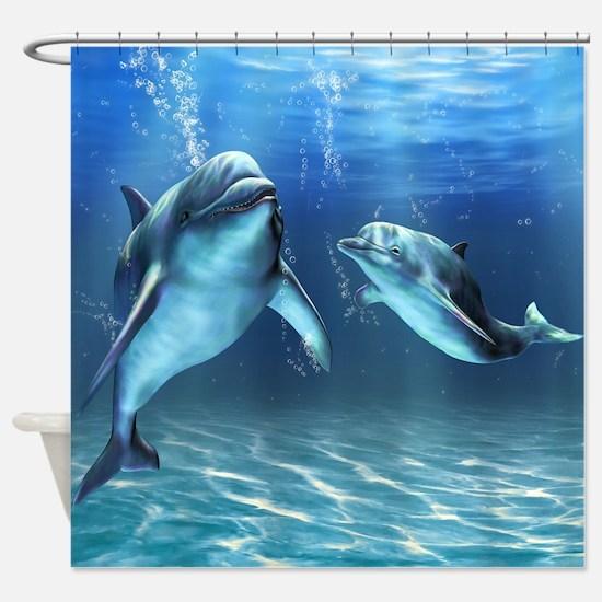 Dolphin Dream Shower Curtain