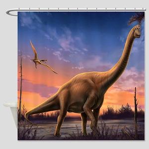 Jurassic Dinosaurs Shower Curtain