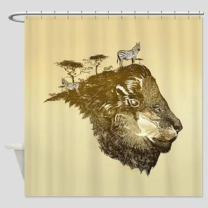 Lion Savanna Shower Curtain