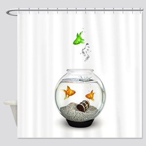Gold Fish Outsider Shower Curtain