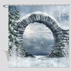 Ancient Stone Gate Shower Curtain