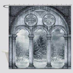 Gothic Winter Vault Shower Curtain