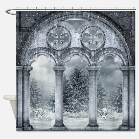Gothic Winter Vault Shower Curtain