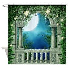 Summer Night Balcony Shower Curtain