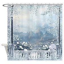 Winter Balcony View Shower Curtain