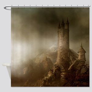 Mountain Castle Shower Curtain