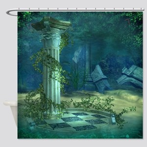 Underwater Ruins Shower Curtain