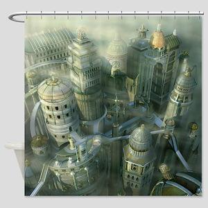 Ancient Atlantis Shower Curtain