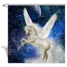 Pegasus Universe Shower Curtain