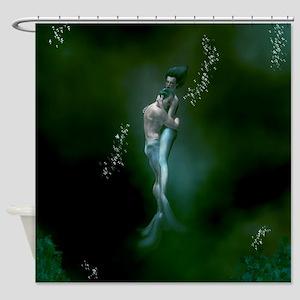 Mermaid Couple Shower Curtain
