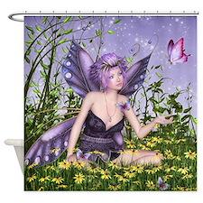 Purple Spring Fairy Shower Curtain