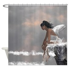 Water Angel Shower Curtain