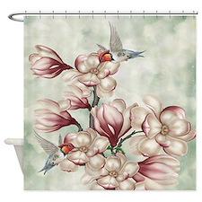 Magnolia Colibries Shower Curtain