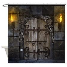 Gothic Spooky Door Shower Curtain