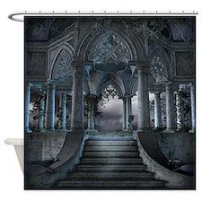 Gothic Mausoleum Shower Curtain