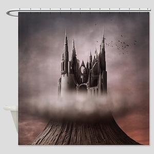 Gothic Castle Ruins Shower Curtain
