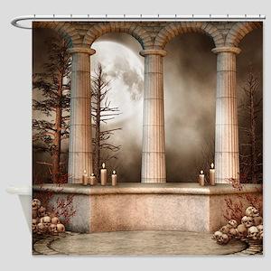 Gothic Marble Columns Shower Curtain
