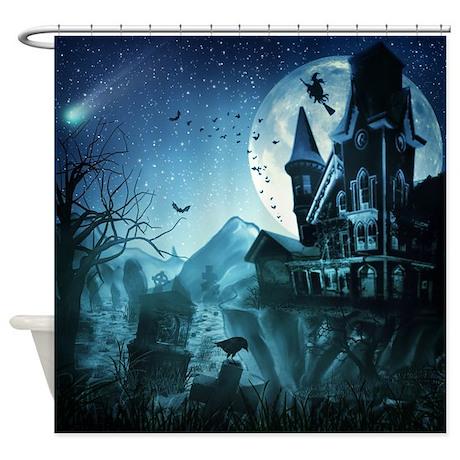 Haunted Mansion Shower Curtain By FantasyArtDesigns