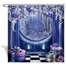 Christmas Window Shower Curtain