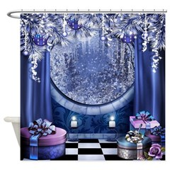Christmas Window Shower Curtain