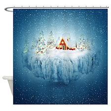 Surreal Christmas Fantasy Shower Curtain