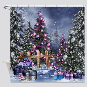 Christmas Landscape Shower Curtain