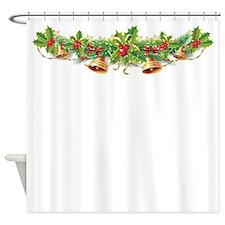 Christmas Bell Garland Shower Curtain
