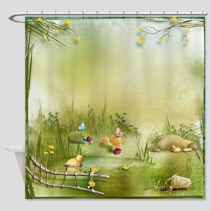 Easter Landscape Shower Curtain