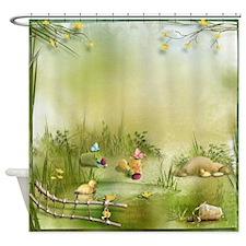 Easter Landscape Shower Curtain