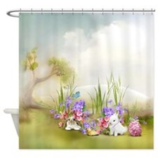 Easter Bunnies Shower Curtain