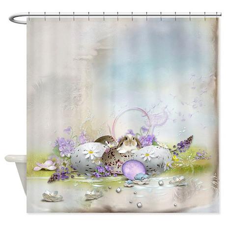 Easter Eggs Shower Curtain by FantasyArtDesigns