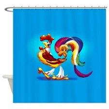 Cockerel Cartoon Shower Curtain