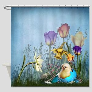 Easter Egg Chicken Shower Curtain