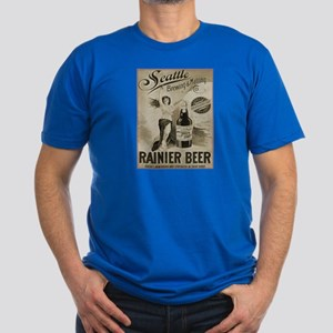 Rainier Beer Men's Fitted T-Shirt (dark)