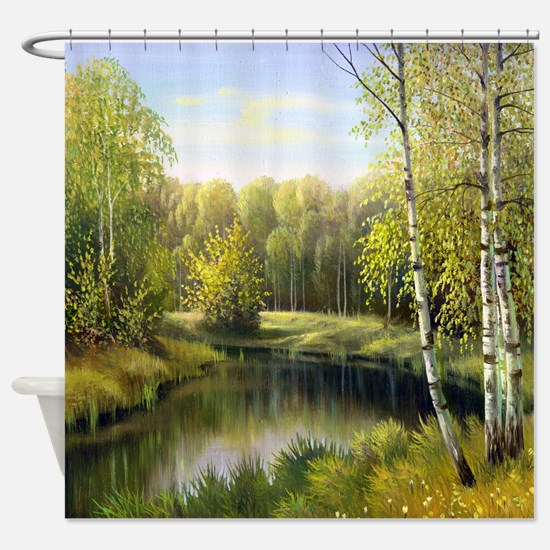 Beautiful Spring Painting Shower Curtain