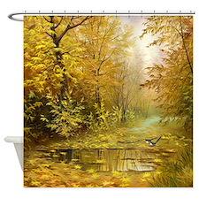 Beautiful Autumn Painting Shower Curtain