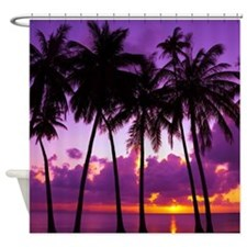 Purple Tropical Sunset 2 Shower Curtain