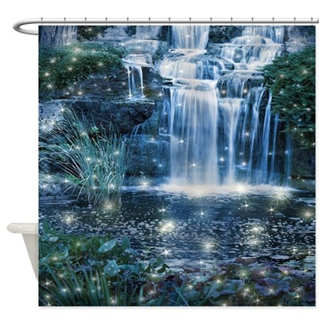 Magic Waterfall Shower Curtain by FantasyArtDesigns